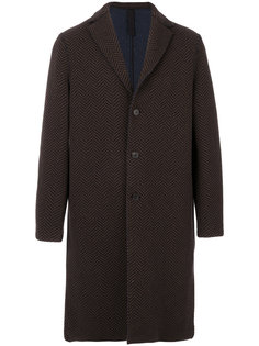 пальто в узор елочкой Harris Wharf London