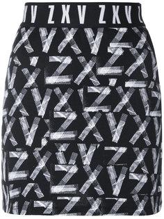 мини-юбка с принтом Zayn X Versus Versus