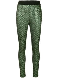 жаккардовые брюки скинни Dolce & Gabbana