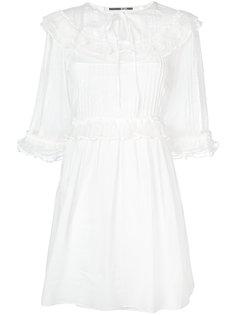 платье с присборенной отделкой McQ Alexander McQueen