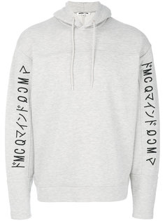 embroidered logo hoodie McQ Alexander McQueen