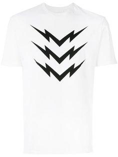 футболка с молниями Neil Barrett