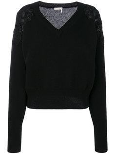 трикотажный свитер с вышивкой  Chloé