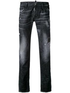 узкие рваные джинсы Dsquared2