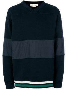 свитер со вставкой в полоску  Marni