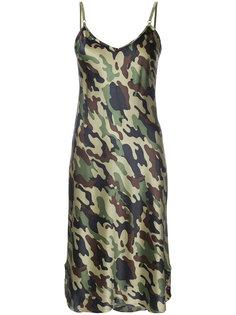 камуфляжное платье на тонких лямках Nili Lotan