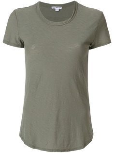 футболка с закругленным подолом James Perse