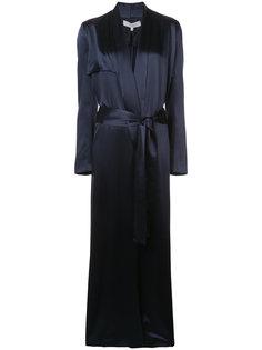 длинное пальто-накидка Galvan