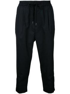укороченные брюки с молниями monkey time