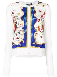 кардиган с цветочным принтом Dolce & Gabbana