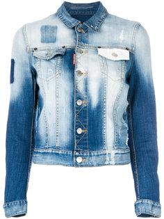 выбеленная джинсовая куртка  Dsquared2