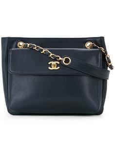 сумка на плечо с цепочкой и логотипом CC Chanel Vintage