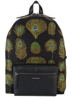 рюкзак с принтом павлиньих перьев Alexander McQueen