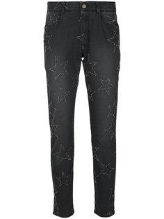 джинсы-бойфренды с вышивкой звезд Stella McCartney