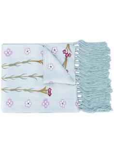 вечерний шарф с вышитым растительным узором Temperley London