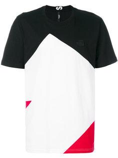 футболка в стиле колор блок Versus