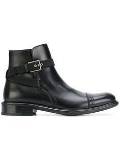 ботинки с ремешком и пряжкой Salvatore Ferragamo