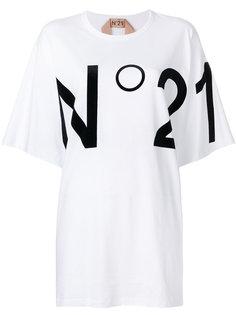 футболка с логотипом свободного кроя Nº21