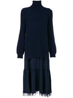 многослойное платье с высоким горлом Nº21