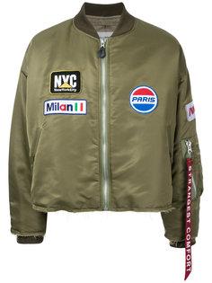 куртка-бомбер на молнии Doublet