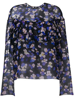 прозрачная блузка с цветочным принтом Philosophy Di Lorenzo Serafini