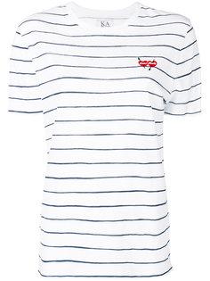 полосатая футболка с вышивкой Zoe Karssen
