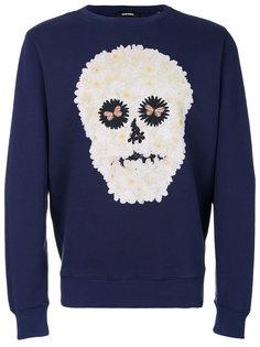 daisy skull sweatshirt Diesel