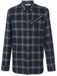 рубашка в клетку с молнией  Givenchy