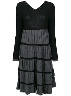 платье джерси с оборками Twin-Set