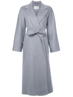объемное пальто с поясом Max Mara