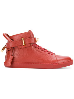 buckled hi-top sneakers Buscemi