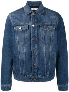 джинсовая куртка с принтом с логотипом Givenchy