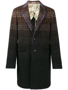 пальто в клетку с градиентным эффектом Etro