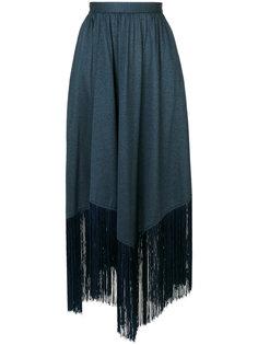 юбка с бахромой на подоле Marco De Vincenzo