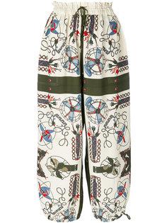 свободные брюки с принтом  Jean Paul Gaultier Vintage