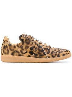 кроссовки с леопардовым принтом Maison Margiela