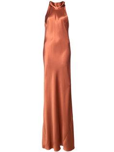 платье в пол с мягким бантом на спине Galvan