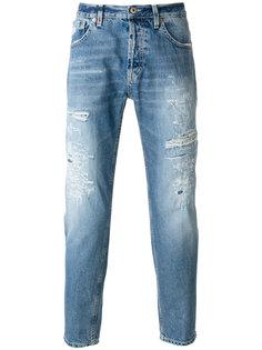 джинсы прямого кроя с рваной отделкой Dondup