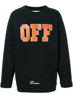 logo print sweatshirt Off-White
