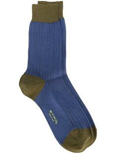 двухцветные носки Etro