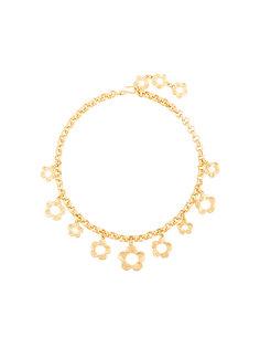 ожерелье-цепочка с подвеской-цветком  Kenzo Vintage