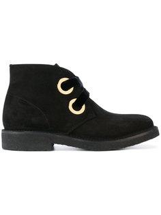 oversized eyelets ankle boots Rupert Sanderson