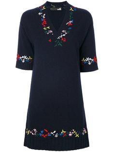 расклешенное платье с вышивкой  Love Moschino