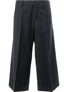 укороченные брюки в полоску Monse