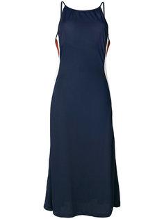 длинное платье без рукавов Ganni