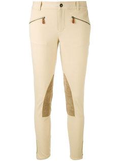 облегающие брюки с контрастными вставками Ralph Lauren