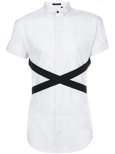 рубашка с контрастными перекрестными лентами Unconditional