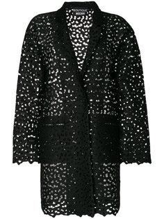 пиджак с вышивкой ришелье  Boutique Moschino