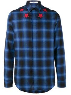 клетчатая рубашка с аппликацией звезд Givenchy