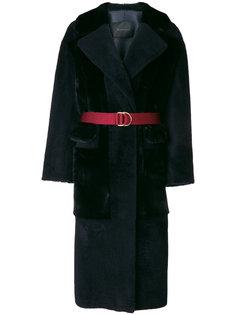 belted fur coat Blancha